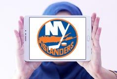 New York Islanders zamraża drużyna hokejowa loga fotografia royalty free