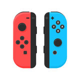 New York - 13 JAN: Nintendo switch illustration. Video game console joystick isolated vector. New York - 13 JAN: Nintendo switch illustration. New video game Royalty Free Stock Photography