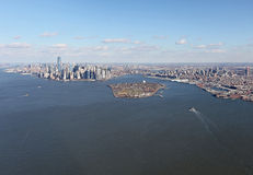 New York and Jersey from above, USA Royalty Free Stock Images
