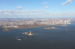 New York and Jersey from above, USA Stock Image