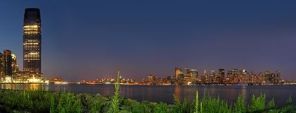 New York and Jersey City Royalty Free Stock Photo