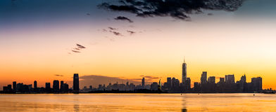 New York and Jersey City panorama Royalty Free Stock Image