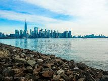 New York from new Jersey royalty free stock photography