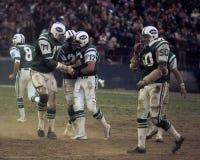 New York Jets beglückwünschen Joe Namath Lizenzfreie Stockfotografie
