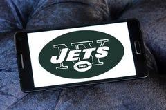 New York Jets futbolu amerykańskiego drużyny logo zdjęcia royalty free