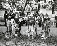 New York Jets huddle Stock Photos