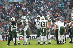 New York Jets-internationales Reihenspiel gegen die Miami Dolphins am Wembley Stadium Lizenzfreie Stockfotografie