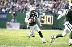 New York Jets punt returner Dedric Ward. Punt Returner Dedric Ward of the New York Jets in game action againist the Pittsburgh Steelers. The Pittsburgh Steelers Royalty Free Stock Photos