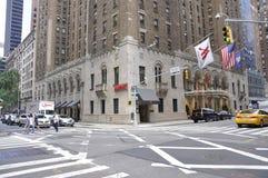 New York 2. Juli: Marriott hotell i midtownen Manhattan från New York City i Förenta staterna Fotografering för Bildbyråer