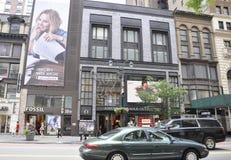 New York, am 2. Juli: Reihe des historischen Gebäudes in Midtown Manhattan von New York City in Vereinigten Staaten Lizenzfreies Stockfoto
