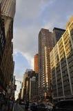 New York, am 1. Juli: Skyline in Midtown Manhattan von New York City in Vereinigten Staaten Lizenzfreies Stockbild
