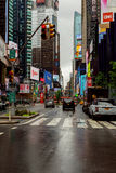 NEW YORK - JULY 2017: New York City street road in Manhattan at summer time. Urban big city life concept background. Stock Photography