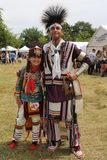 Unidentified Native American family during 40th Annual Thunderbird American Indian Powwow royalty free stock photos