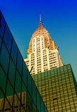 NEW YORK - JUNE 11: Chrysler building facade as seen from street Stock Photos