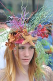NEW YORK - JUNE 18: Unidentified participant attends Mermaid parade on Coney Island in Brooklyn Royalty Free Stock Image