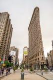 NEW YORK - JUNI 13: Vlakke Ijzer de bouwvoorgevel op 13 Juni, 2013 Royalty-vrije Stock Afbeelding