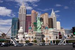 New York kasino och hotell i Las Vegas, Nevada Arkivbilder
