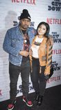 New York Kickoff Party The Get Down season One Part Two. New York, New York, USA, April 5, 2017: Executive Producer Nas and Destiny Jones attend New York Kickoff Royalty Free Stock Images