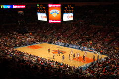 New York Knicks vs Minnesota Timberwolves Royaltyfria Foton