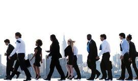 New York kontorsarbetares dagliga pendlingssträcka Arkivfoton