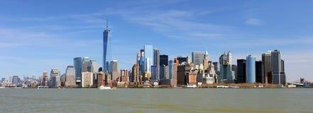 New York lägre i stadens centrum panorama och skyskrapor arkivbild