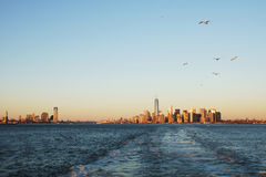 New York lägre manhattan Fotografering för Bildbyråer