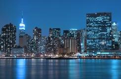 New York la nuit Photographie stock libre de droits