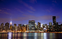 New York la nuit Photo stock