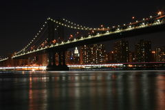 New York la nuit Images stock