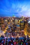 New York la nuit photo libre de droits