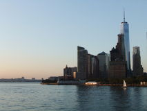 New York ladscape. New York from the river royalty free stock photography