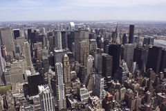New York landscape. A landscape view of Manhattan, New York. Photo taken on April, 2012 Royalty Free Stock Image