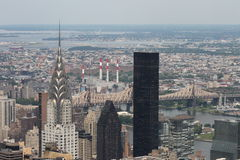 New york landscape roof top view Royalty Free Stock Photos