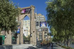 New York New York Las Vegas Royaltyfria Foton