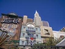 New York New York, Las Vegas Arkivbild