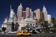 New York à Las Vegas Photos stock
