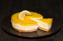 New York lemon cheesecake Royalty Free Stock Photography