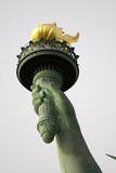 New York Liberty. Statue of Liberty in New York welcomes people arriving into the New World stock photography