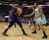 New York Liberty vs Phoenix Mercury royalty free stock photos