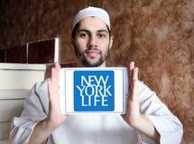 New York Life Insurance Company logo. Logo of New York Life Insurance Company on samsung tablet holded by arab muslim man. New York Life Insurance Company ,NYLIC Royalty Free Stock Photos
