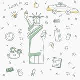 New york lifestyle icons. New york lifestyle icons for design Royalty Free Stock Photos