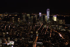 New York - Lights of the night from the skyline. New York by night from the top of the Empire State Building Stock Photo