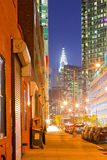 New York, local street at sunset Royalty Free Stock Photography