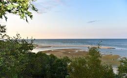 New york long island  estuary low  tide Stock Photography