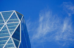 New York: looking up at the Hearst Tower on September 14, 2014 Royalty Free Stock Photo