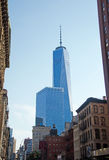 New York: looking up at One World Trade Center on September 14, 2014 Royalty Free Stock Image
