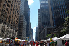 New York loppmarknad Arkivbild