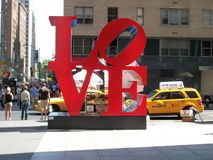 New York love sculpture. A love sculptue in New York stock photography
