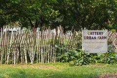 NEW YORK - 29 LUGLIO 2014: PR urbano dell'azienda agricola della batteria di Educaitonal Fotografia Stock