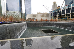 New York 9/11 mémorial au World Trade Center point zéro Images stock